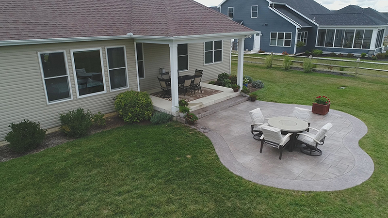 concrete patios stamped resealing power washing cousino s